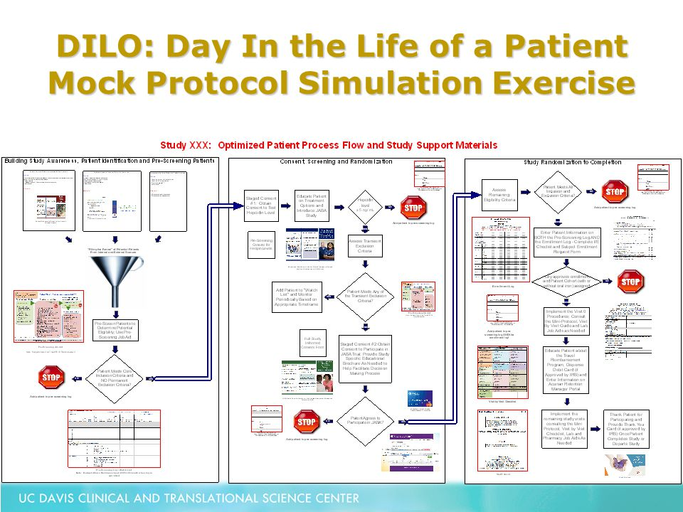 DILO: Day In the Life of a Patient Mock Protocol Simulation Exercise