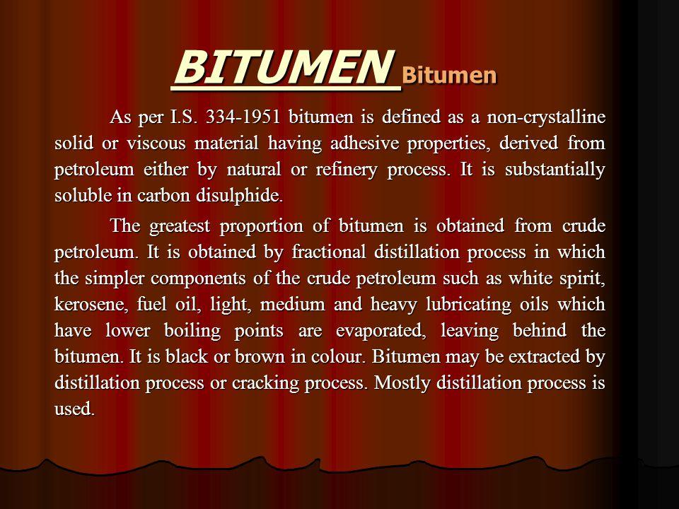 BITUMEN Bitumen As per I.S.