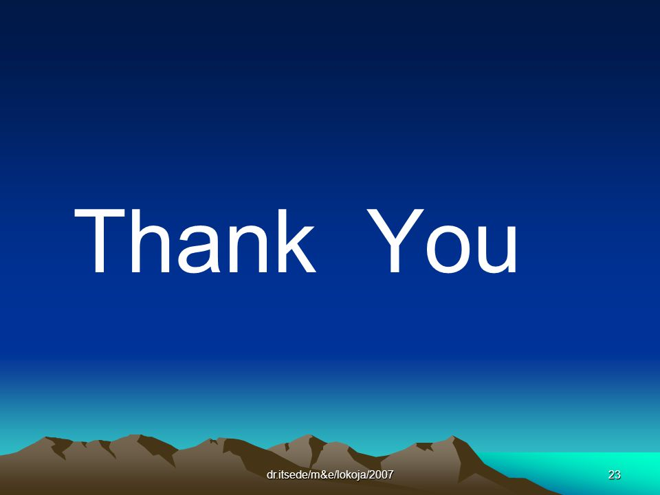 dr.itsede/m&e/lokoja/200723 Thank You