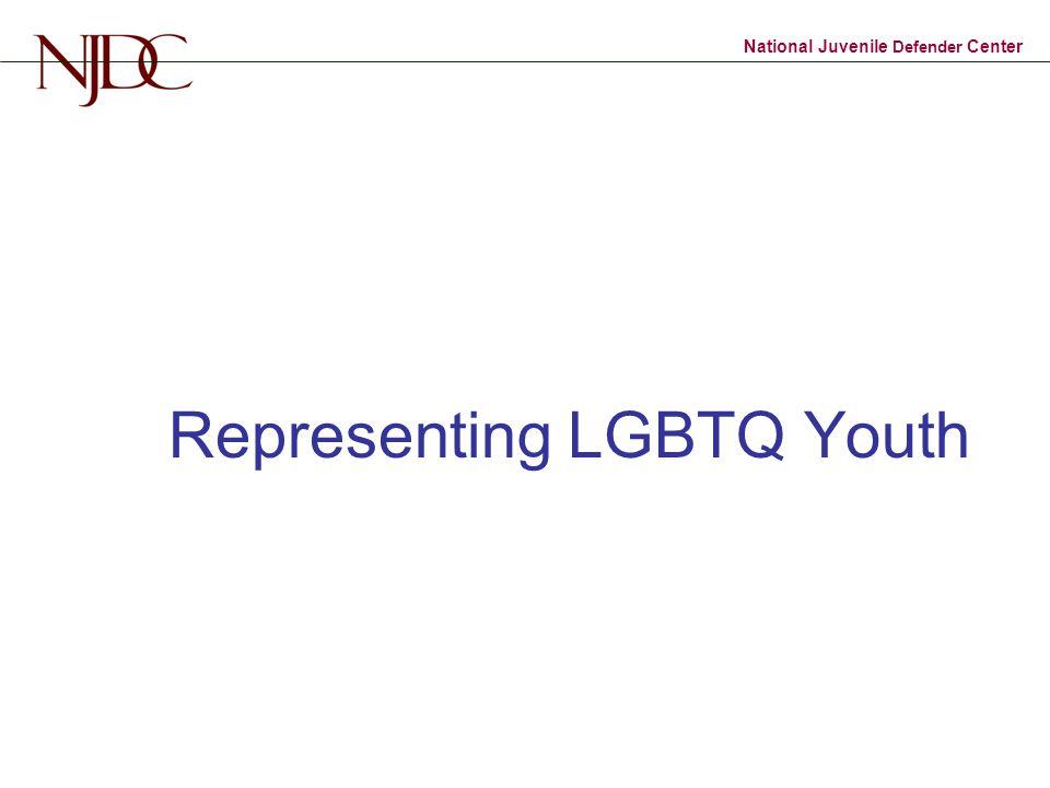 National Juvenile Defender Center Representing LGBTQ Youth