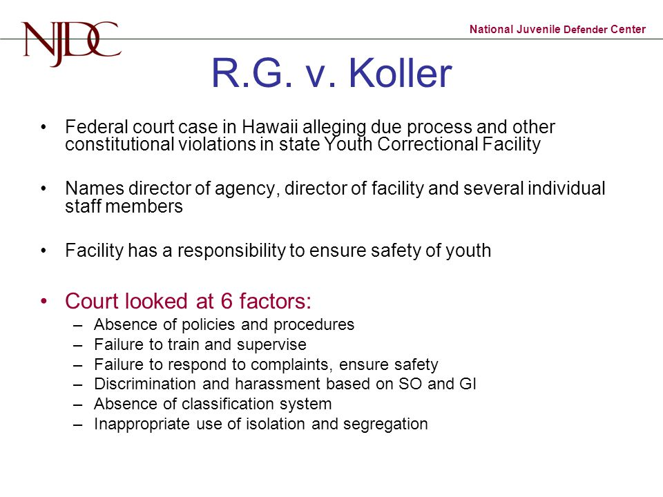National Juvenile Defender Center R.G.v.