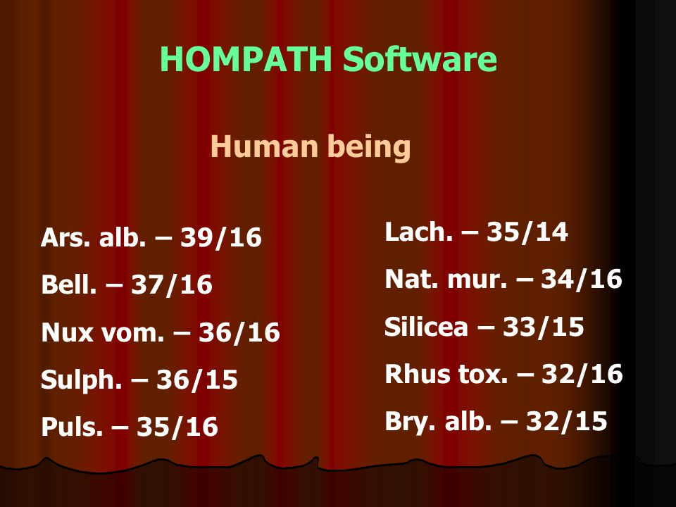 HOMPATH Software Human being Ars.alb. – 39/16 Bell.