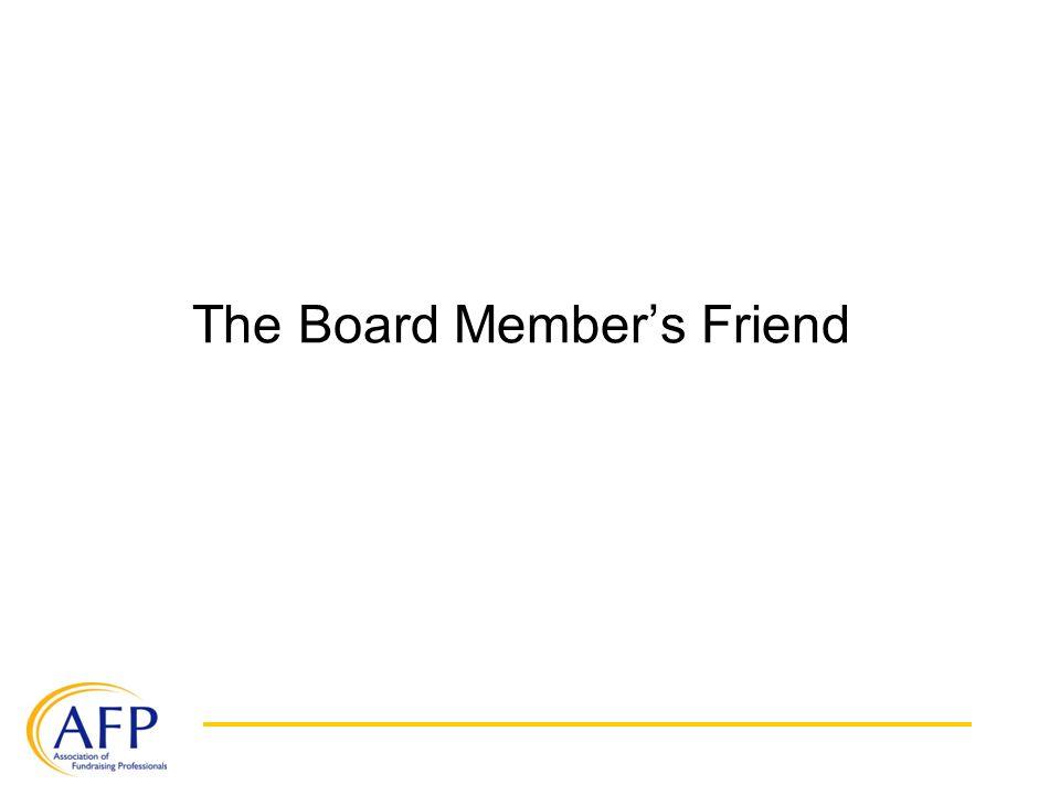 The Board Member's Friend