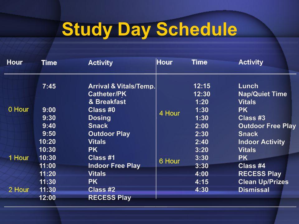 Study Day Schedule