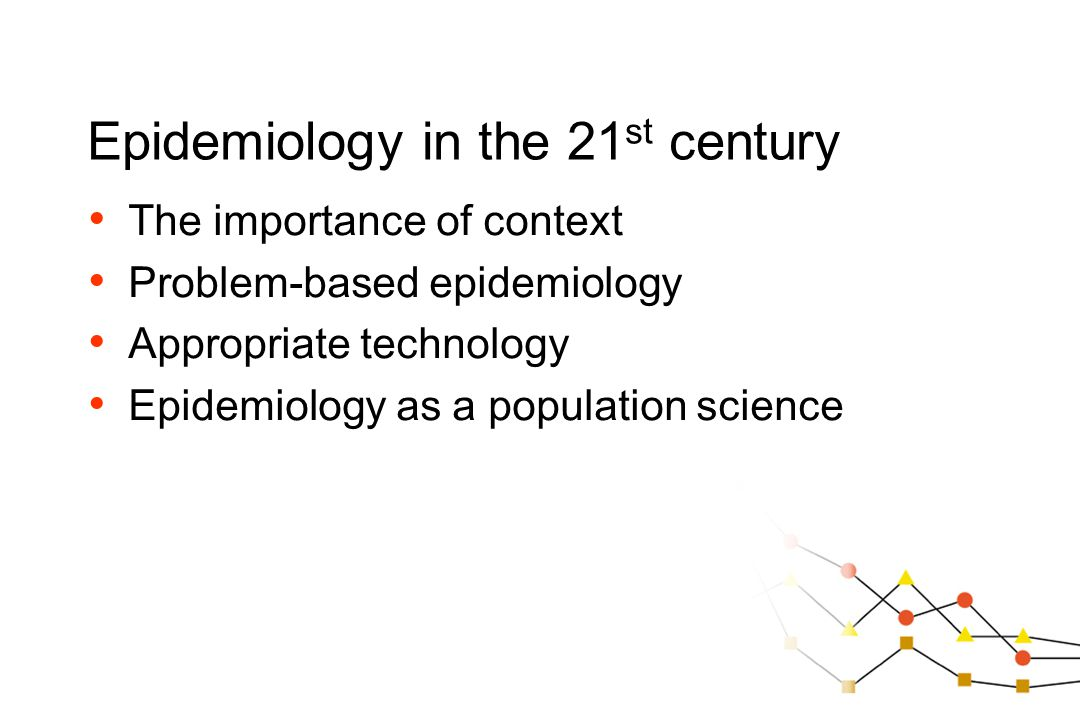 The importance of context Problem-based epidemiology Appropriate technology Epidemiology as a population science
