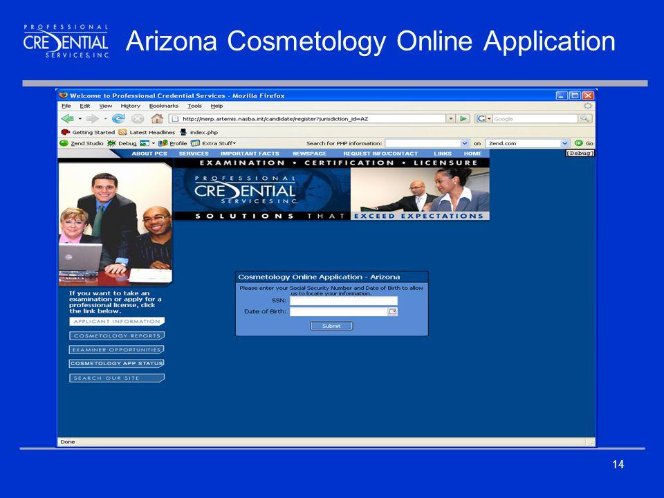 14 Arizona Cosmetology Online Application