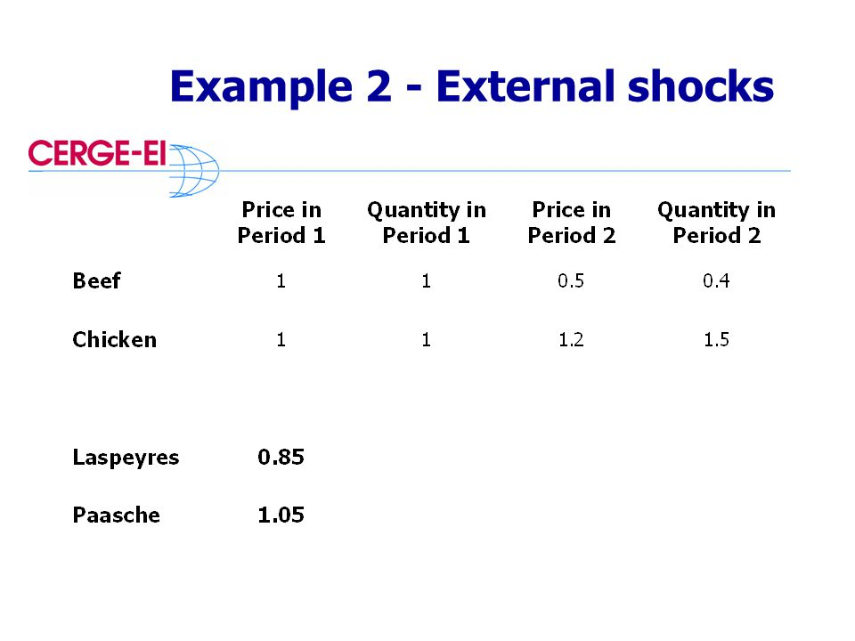 Example 2 - External shocks