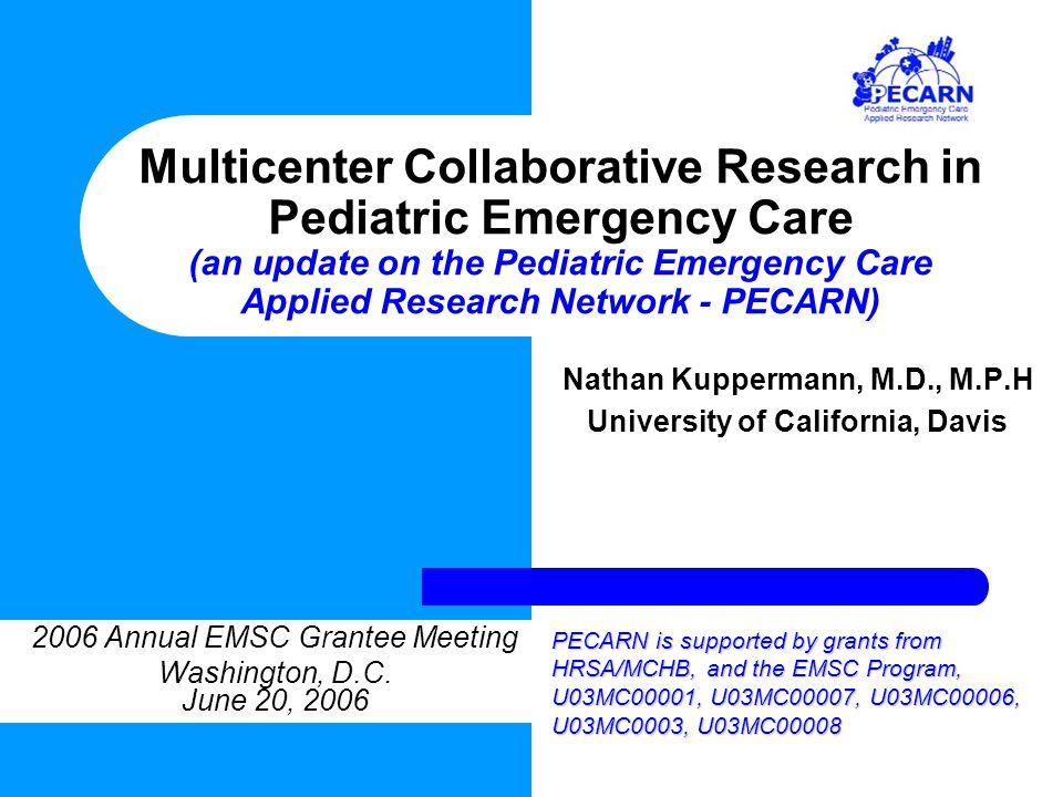 3. Hypothermia for Pediatric Cardiac Arrest Planning Grant Funded through the NIH/NICHD