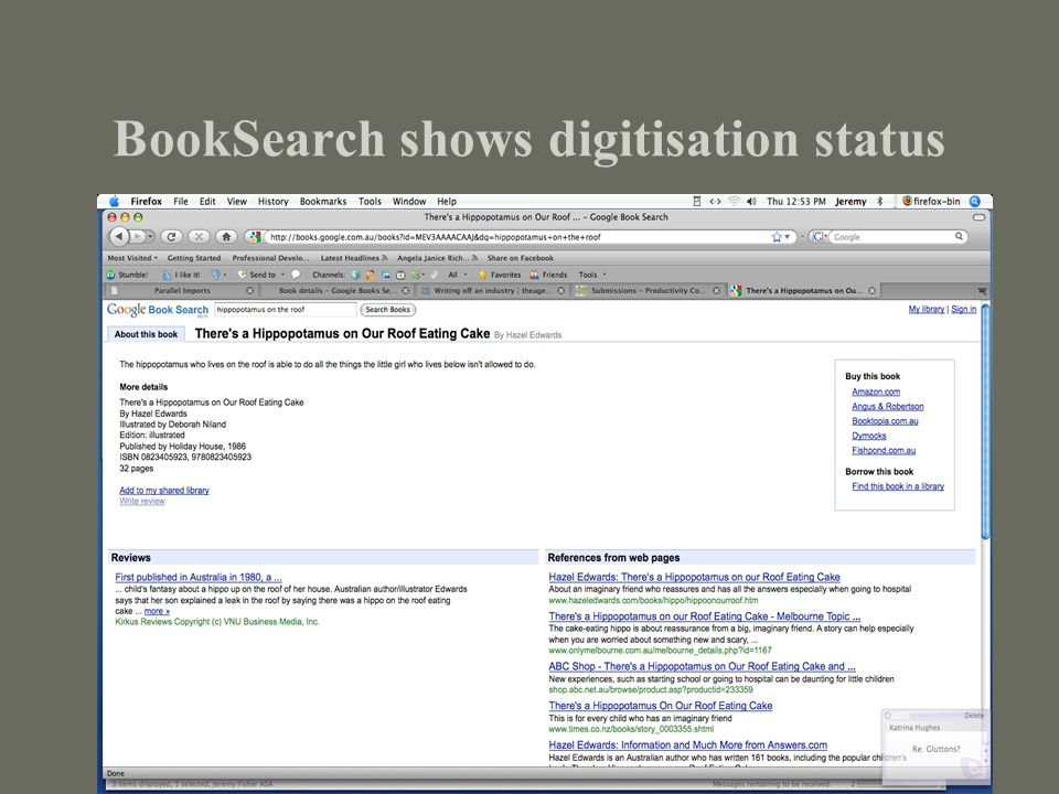 BookSearch shows digitisation status