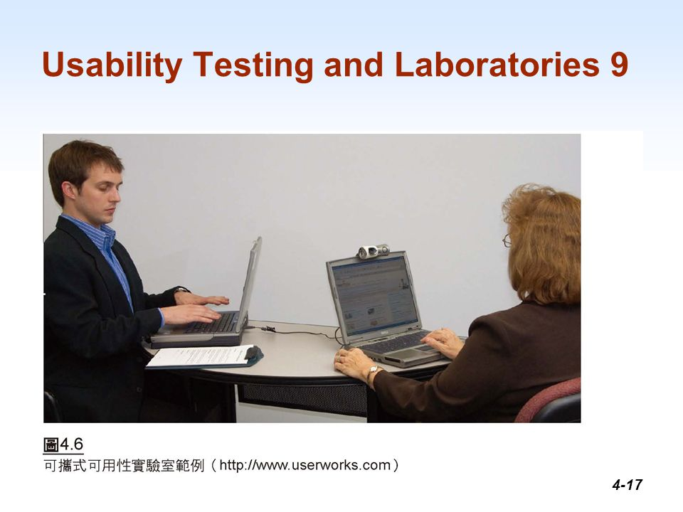 1-17 Usability Testing and Laboratories 9 4-17