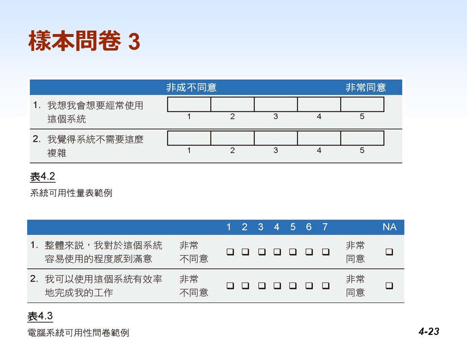 1-23 樣本問卷 3 4-23
