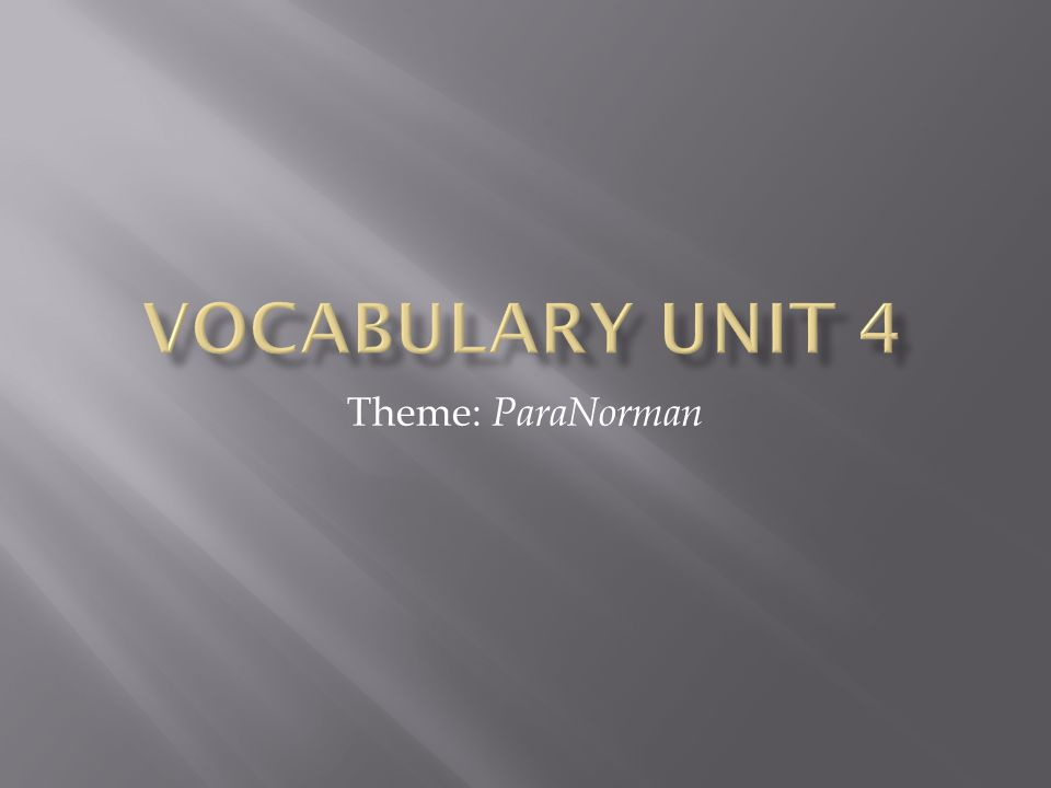 Theme: ParaNorman