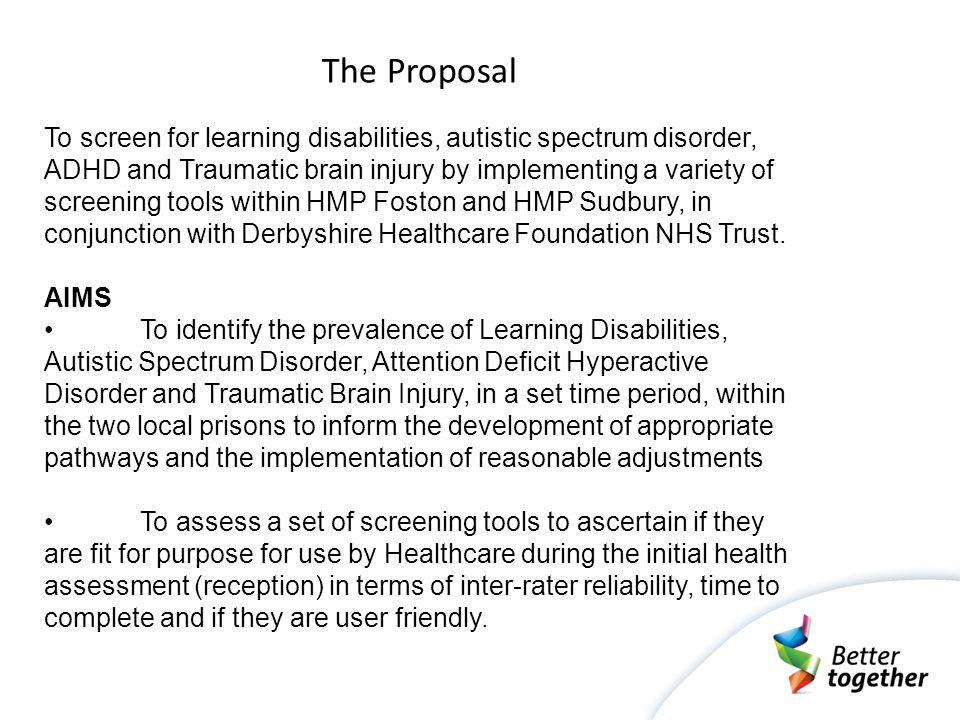 Learning Disability 'Learning Disability' is the term that the Department of Health use within their policy and practice documents.