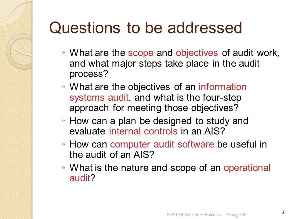 Introduction We focus on the concepts and techniques used in auditing an AIS.