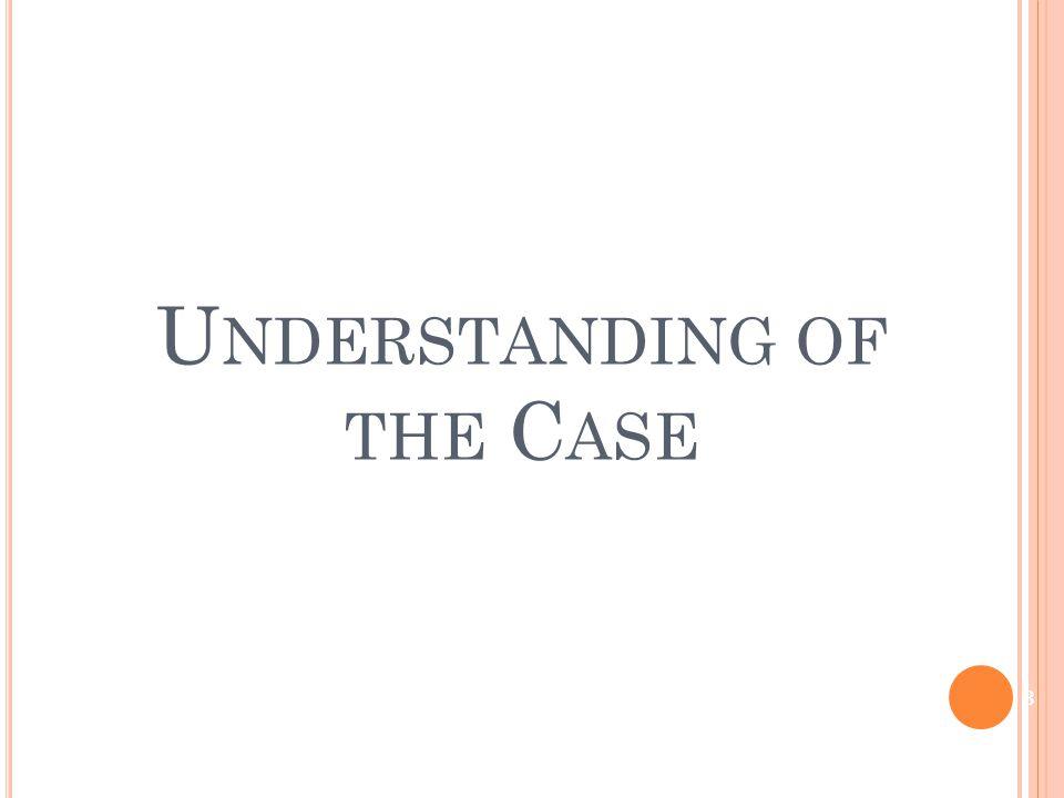 U NDERSTANDING OF THE C ASE 3