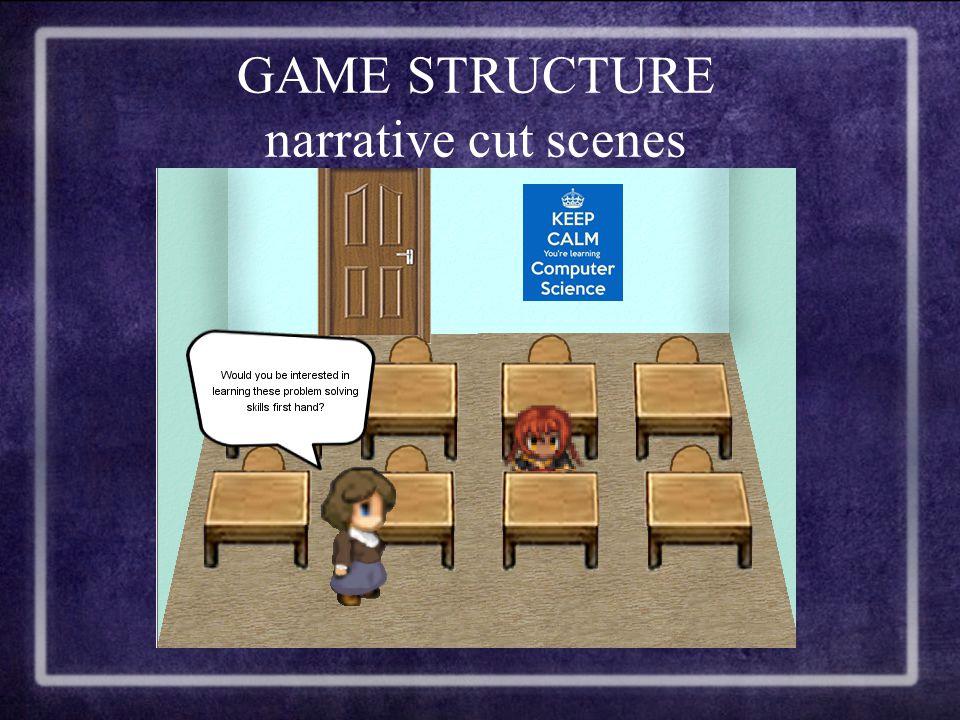 GAME STRUCTURE narrative cut scenes