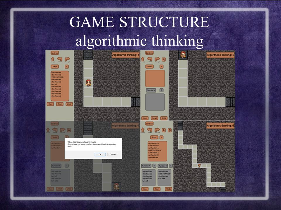 GAME STRUCTURE algorithmic thinking