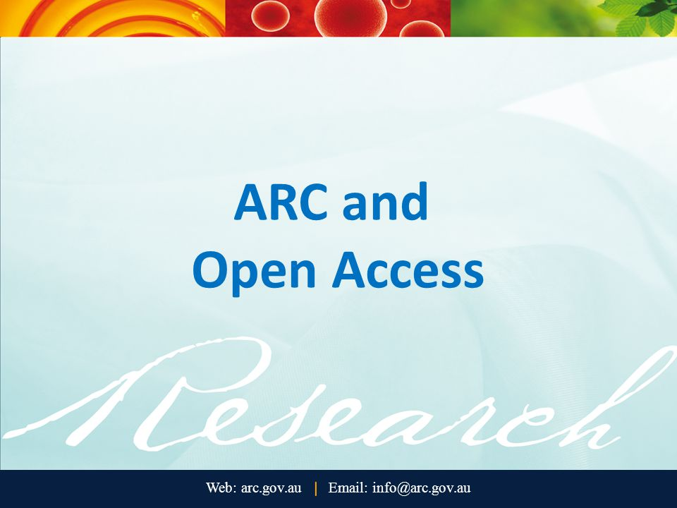ARC and Open Access