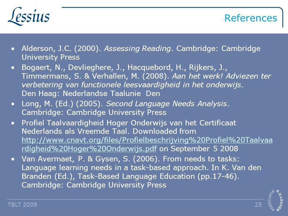 References Alderson, J.C. (2000). Assessing Reading.