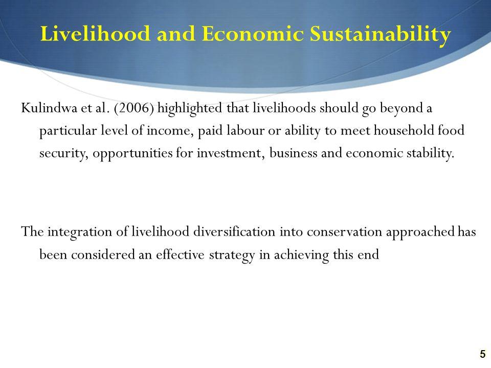 55 Livelihood and Economic Sustainability Kulindwa et al.