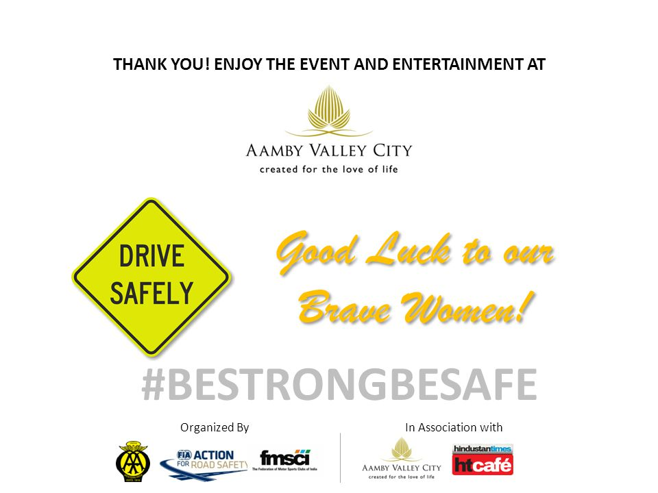 Good Luck to our Brave Women. #BESTRONGBESAFE THANK YOU.