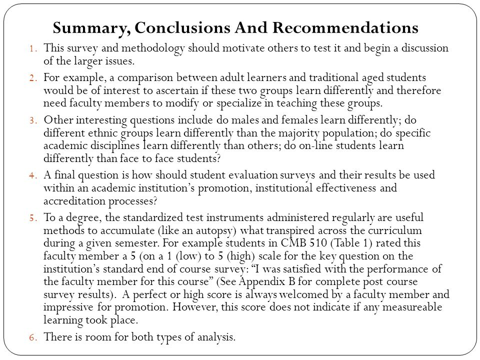 Summary, Conclusions And Recommendations 1.