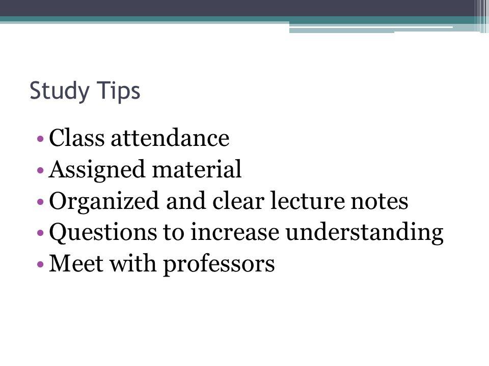 Study Tips Tutoring services Remediation programs Advisory assistance Study groups