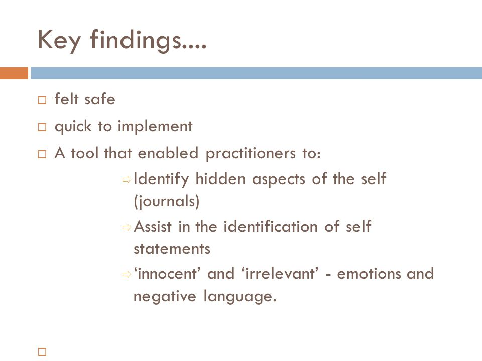 Key findings....