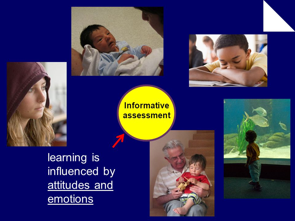 Informative assessment learning is influenced by attitudes and emotions