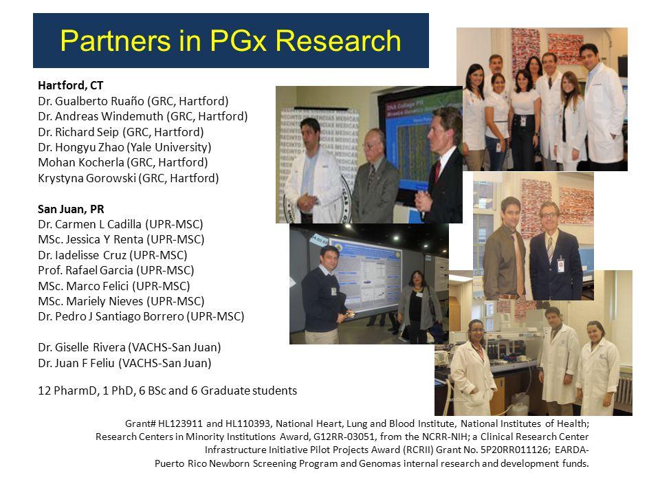Hartford, CT Dr. Gualberto Ruaño (GRC, Hartford) Dr.