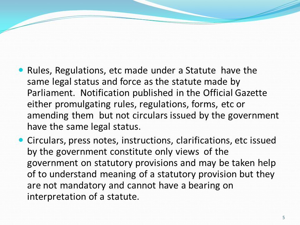 Definition having a limited scope to specific section While definitions given in the definition section apply to the entire Act, sometimes a definition for a particular section or subsection is given in the Explanation appended to that section or subsection.