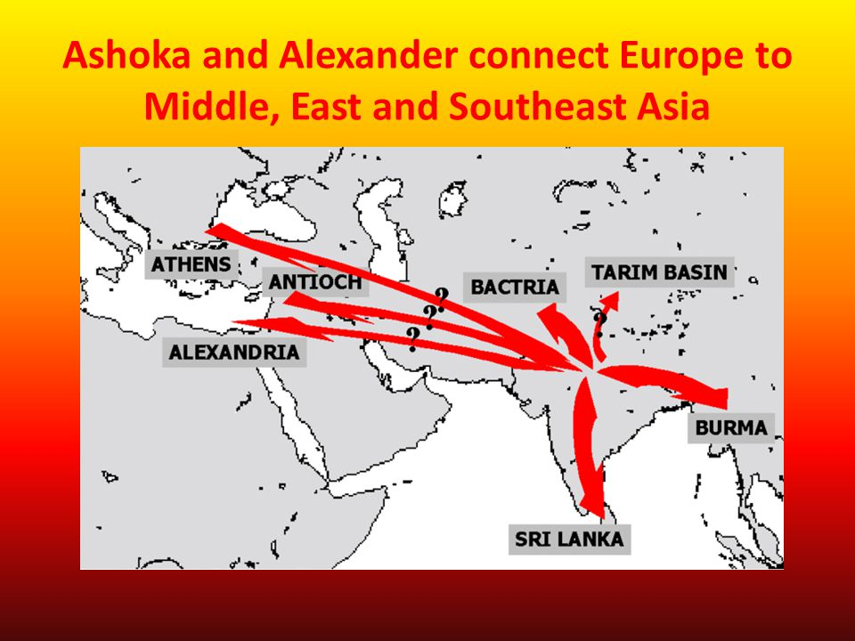 Ashoka and Alexander connect Europe to Middle, East and Southeast Asia