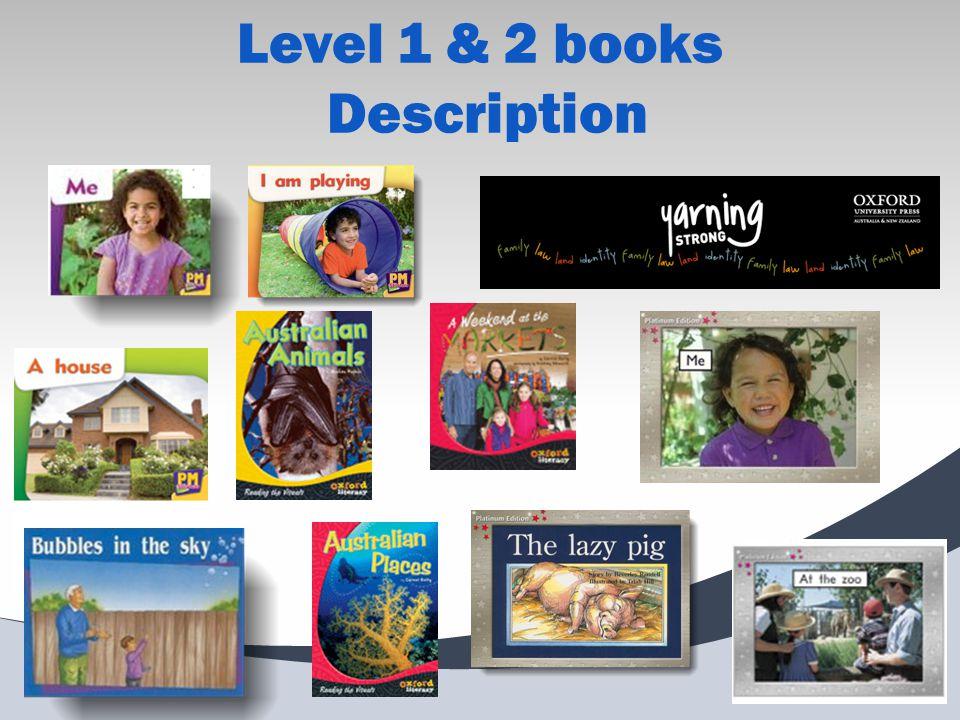 Level 1 & 2 books Description