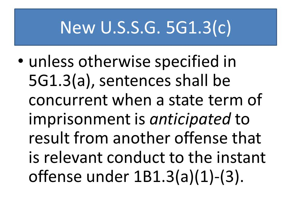 New U.S.S.G.
