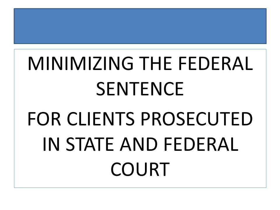 PRACTICE TIP Pending state case will be considered a detainer by the BOP.