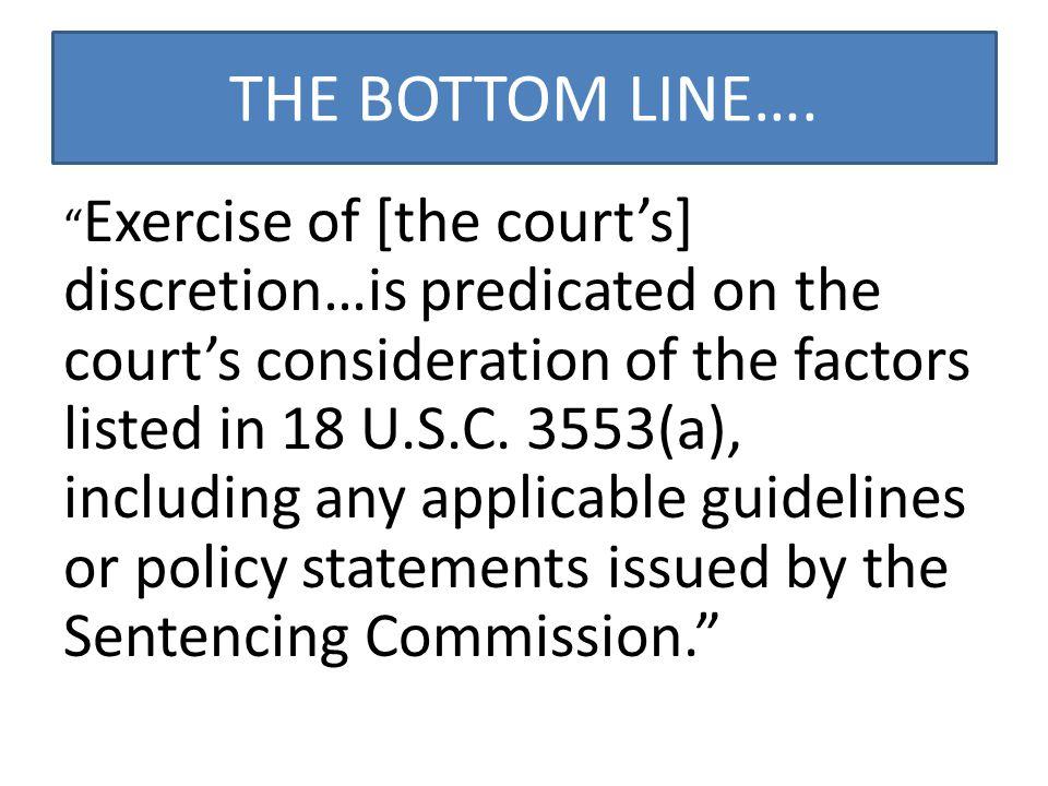 THE BOTTOM LINE….