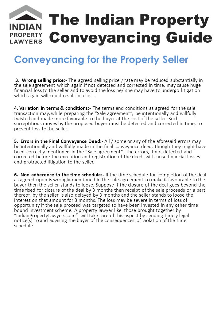 Conveyancing for the Property Seller 3.