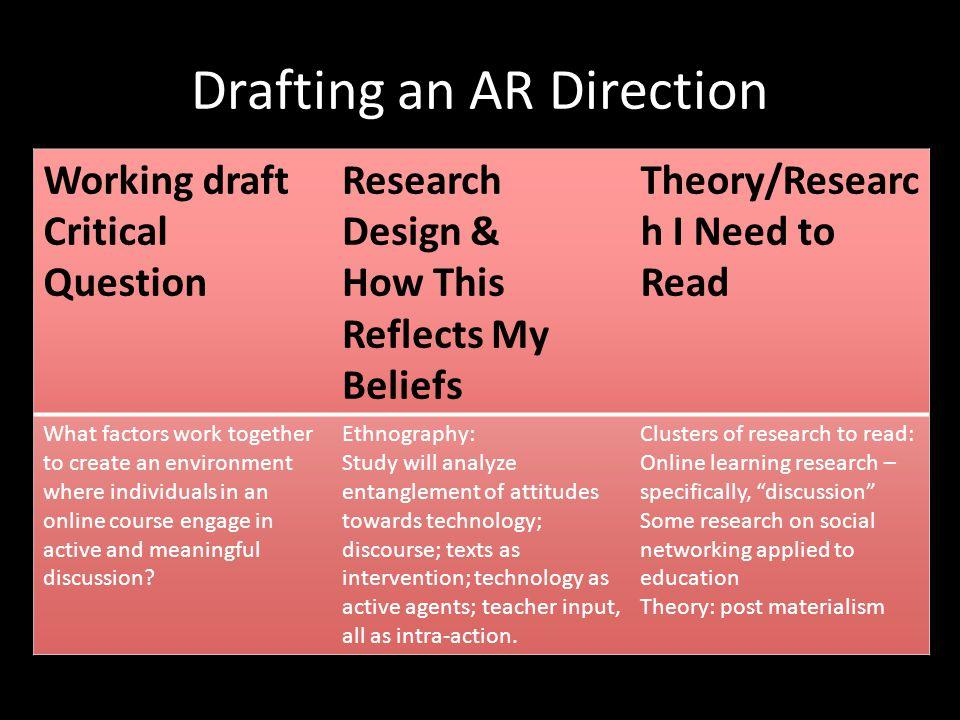 Drafting an AR Direction