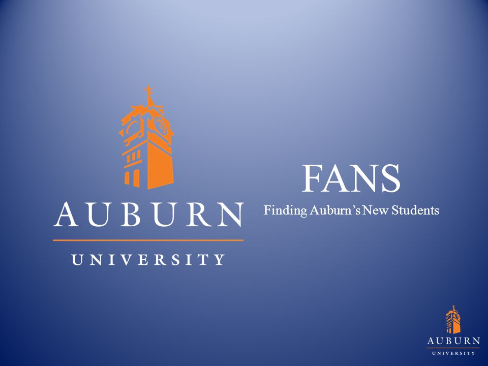 FANS Finding Auburn's New Students