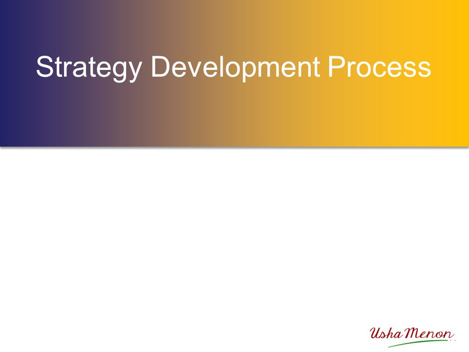 GROUP ACTIVITY What are the key components of strategy development.