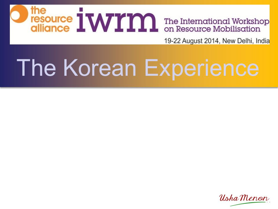 The Korean Experience