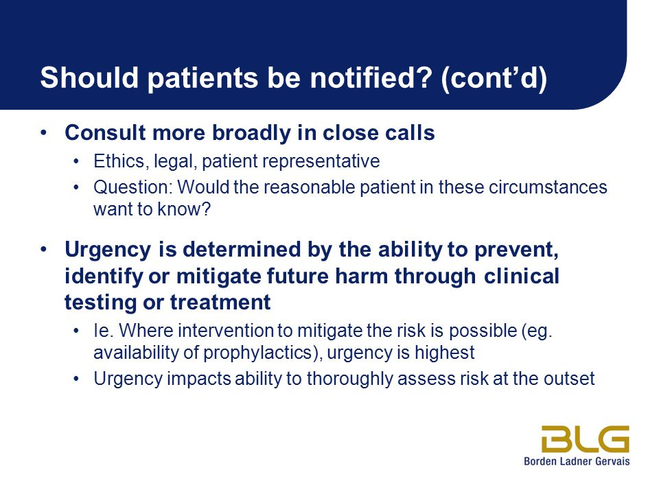 Should patients be notified.
