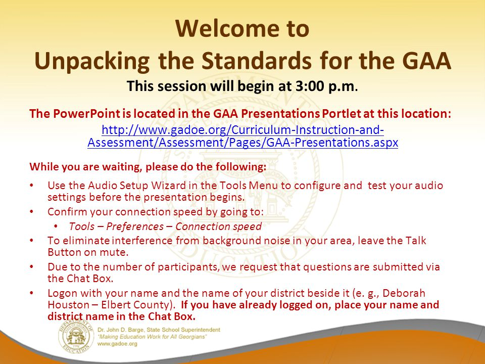 Pathway to Alignment Alignment of assessment tasks to the CCGPS is based on the same principles as alignment to the GPS.