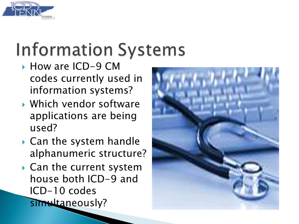  How are ICD-9 CM codes currently used in information systems.