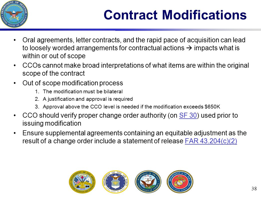 Oral agreements, letter contracts, and the rapid pace of acquisition can lead to loosely worded arrangements for contractual actions  impacts what is
