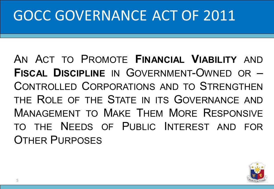 16 Slide Title O RGANIC D OCUMENTS 1.Ownership and Operations Manual for GOCCs 2.Code of Corporate Governance for GOCCs 3.The Fit and Proper Rule