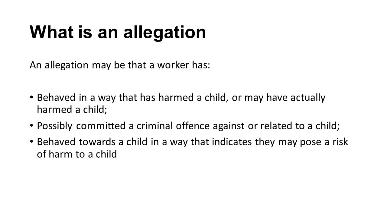 cont In terms of the Education act the third criteria reads Behaved in a way that indicates that they may be unsuitable to work with a child