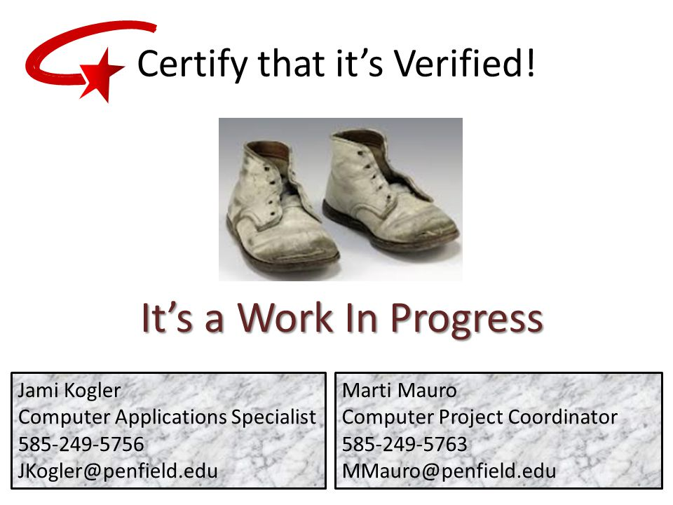Certify that it's Verified.
