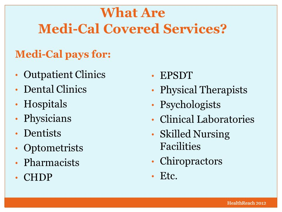 What Are Medi-Cal Covered Services.