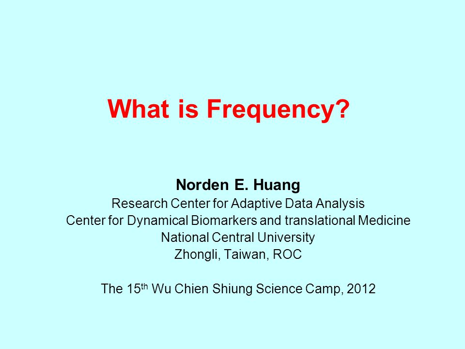 What is Frequency. Norden E.